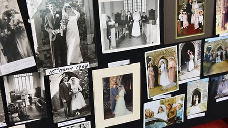 A 90 year history exhibition with a number of wedding photos was also held at the church. Picture: J
