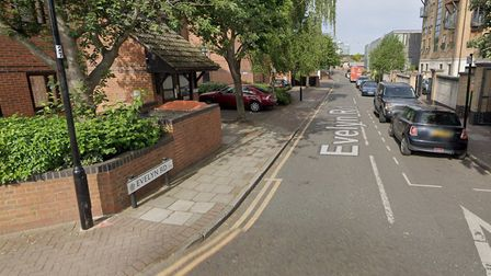 Three men were in a taxi in Evelyn Road when they were followed by a moped. Picture: Google Maps