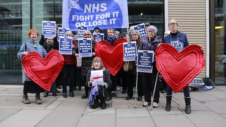 Campaigners from Waltham Forest Save Our NHS delivered a petition to DoH with 5,703 signatories cond