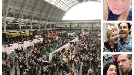 Thousands of Walking Dead fans converged on London for previous events. Right: customers who have ha