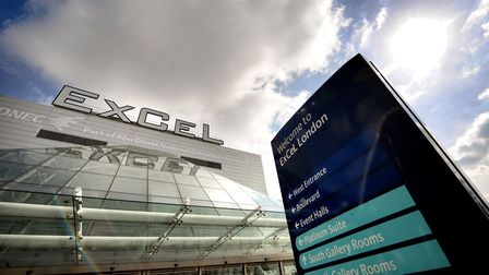 The Excel Conference Centre in East London, where hundreds of people were expecting to attend this w