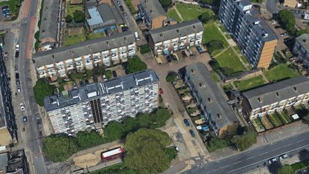 Almost 300 homes in Canning Town are managed by CTR Triangle TMO. Picture: Google Satellite