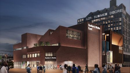 A computer generated image of Sadler's Wells hub at East Bank. Picture: LLDC, Allies & Morrison, Nin