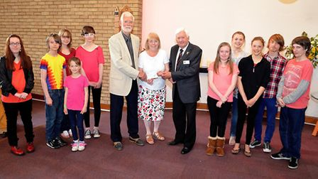 A donation to the Singing Futures group from the Rotary Club of Lowestoft. Pictures: Mick Howes.