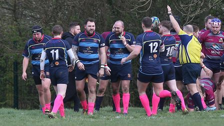 Coopers score their first try during Old Cooperians RFC vs Barking RFC. Picture: Gavin Ellis/TGS Pho