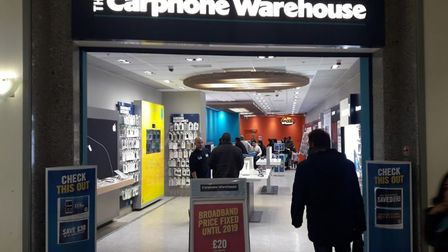 The Carphone Warehouse shop in High Road, Ilford will be closing on April 3. Picture: Google Maps