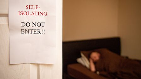 A file image of someone self-isolating due to coronavirus. Picture: PA