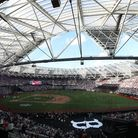 General View during post match celebrations in the MLB London Series Match at The London Stadium.