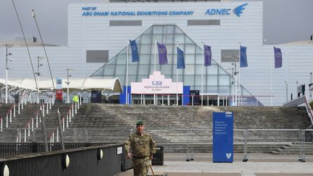 Military personnel at the ExCeL which is being made into a temporary hospital. Picture: Kirsty O'Con