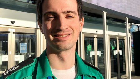 Alex Davies, who has been appointed tactical commander of the St John Ambulance volunteers at the Ni