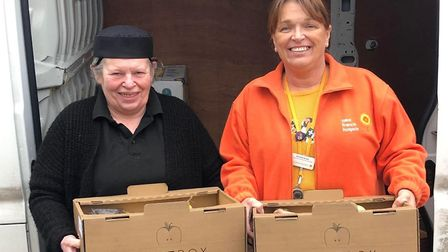 The team at FruitBox drop off supplies at Saint Francis Hospice. Picture: Chris Loveridge