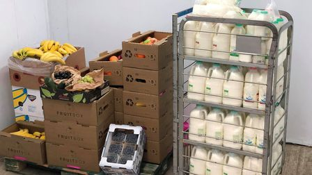 FruitBox has surplus milk and fruit left over from delivery to offices, now it's donating them to ca
