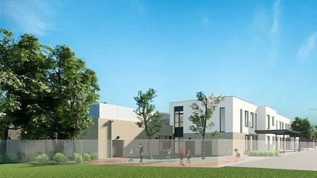 A CGI of what the rear of Hatchside School will look like when it is finished. Picture: Rock Townsen