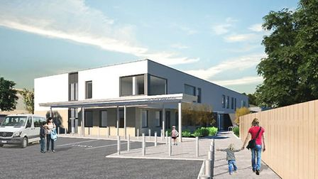 A CGI showing how the front of Hatchside School will look when it is complete. Picture: Rock Townsen