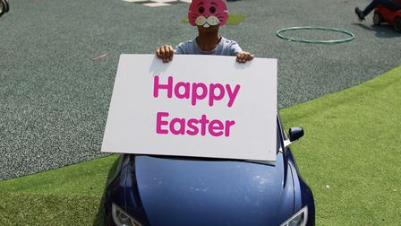 Usually, people give Easter eggs to the hospice's children at this time of year, but instead Richard