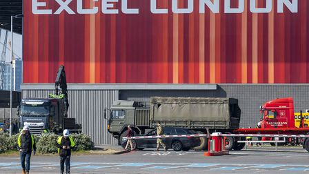 Military presence outside the ExCeL. Picture: Stefan Rousseau/PA Wire