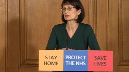 Deputy chief medical officer Dr Jenny Harries. Picture: PA Video