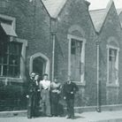 St Andrew's School and teaching staff in Romford in about 1900. The school was also known as the Lon