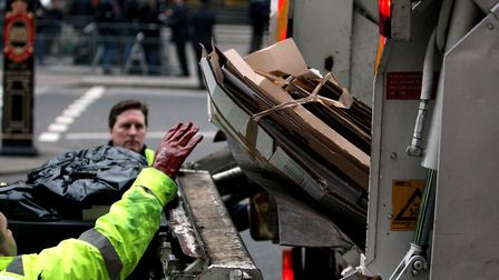 Some refuse collections will be suspended. Picture: PA