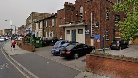 Murder... crime scene at Memorial Community Church in the Barking Road where woman lay dying for 16