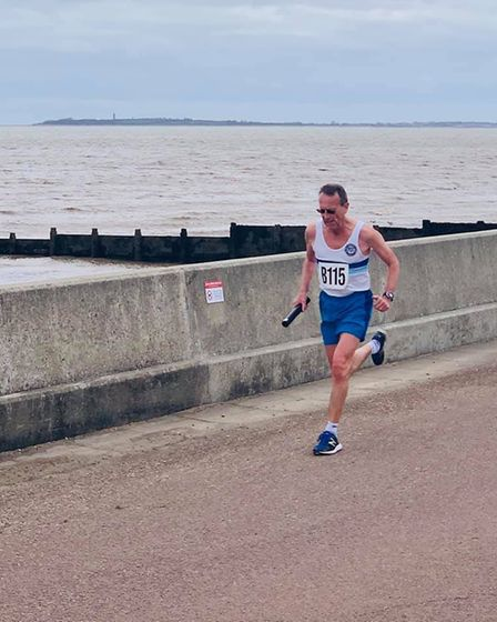 Andy Catton of Ilford AC on the seafront