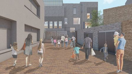 Artist's impression of the new primary school on Sugar House Island. Picture: LLDC