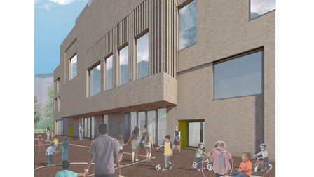 The school is due to welcome its first pupils in September next year. Picture: LLDC