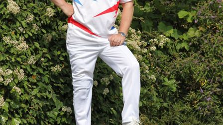 Kevin Fitzgerald of Wanstead Central at the Essex County Bowls Club
