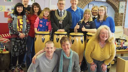The launch of the Music Man Project at the Unity Centre run by Lowestoft & District MENCAP. Picture: