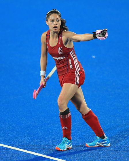 Great Britain's Sam Quek during the FIH Women's Champions Trophy at the Queen Elizabeth Olympic Park