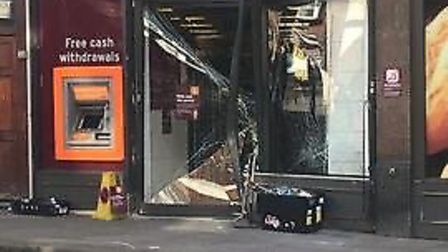 Ram raiders smashed into the Sainsbury's in Woodford Green early this morning. Picture: Elisabete Lo