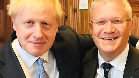 Prime Minister Boris Johnson and Romford MP Andrew Rosindell, who said his thoughts and prayers are