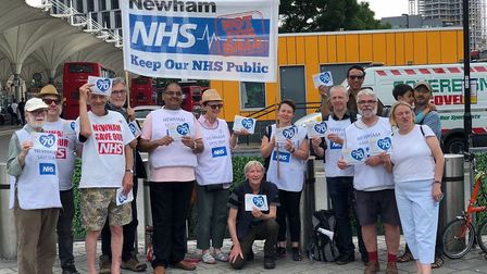Campaigners from Newham Save our NHS wants Barts to stop carrying out ID checks on patients. Pic: Ne