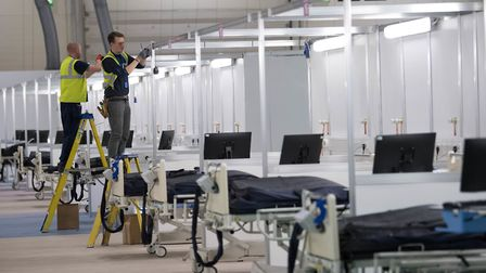 The ExCeL has been turned into the NHS Nightingale Hospital to care for coronavirus patients. Pictur