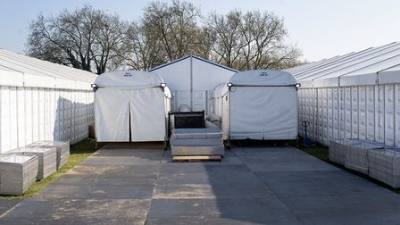 A temporary morgue on Wanstead Flats - at least six deaths linked to coronavirus in Redbridge may no