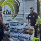 Food hub charity Community Food Enterprise has been given a donation of soft drinks and snacks to he