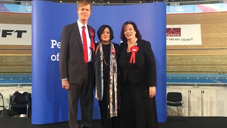 East Ham MP Stephen Timms, West Ham MP Lyn Brown and Newham Mayor Rokhsana Fiaz (centre). Picture: A