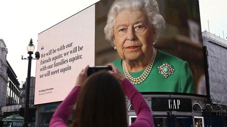 The Queen made a broadcast last Sunday and again this Easter weekend. Picture: PA