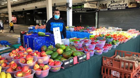 Stallholder Ahmed at Queen's Market in Green Street, Upton Park. Picture: Friends of Queen's Market