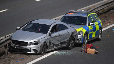 Police ended a pursuit using tactical contact to stop a vehicle on the M11 in Chigwell. Picture: PA/