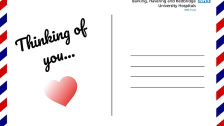 Barking, Havering and Redbridge University Hospitals NHS Trust launch Thinking of you campaign (Pic: