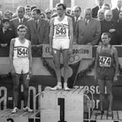 """On the podium after placing second for Great Britain in the """"Jean Bouin"""" 10Km road race in Barcelona"""