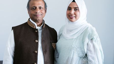 Shafiqur Rahman with his wife Nazma. Mr Rahman's son, Afzal, has said he fears his father will not m