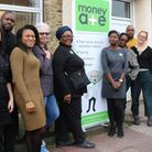 Members of Money A+E's staff who have seen a significant increase in demand for their help. Picture: