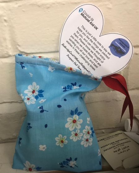 Gift bag being prepared by Redbridgecovid19mutualaid Group (Pic: Andrea St.Hill)