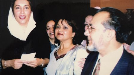 Meeting former Pakistan prime minister Benazir Bhutto. Picture: Sheikh family