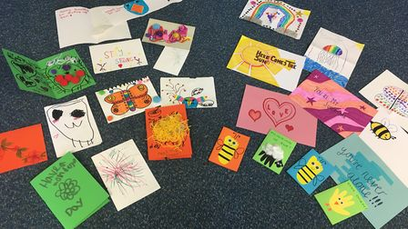 The aim is to connect children's creativity and positive messages to those who are self-isolating du