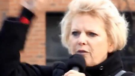 Anna Soubry at the People's Vote rally in Sunderland