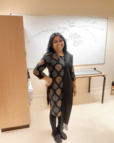 Dr Rajakumari taught for more than 30 years. Picture: Courtesy of Kingsford Community School
