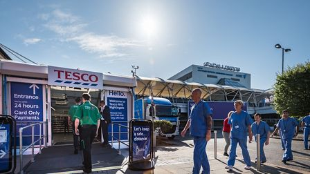 The pop-up Tesco store at the Nightingale Hospital. Picture: Tesco